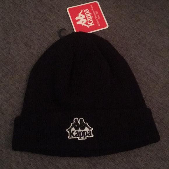 Kappa Accessories - NWT Kappa black knit beanie 6dd716f3e1c